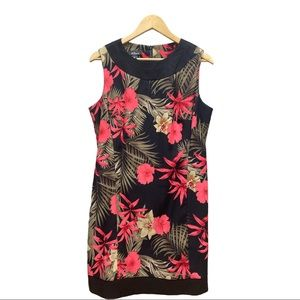 AGB Dress Tropical Flower Design Size 14